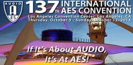 High Resolution Audio to Be a Major Focus at 137th AES Convention
