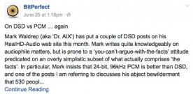 Not So Bit Perfect About DSD vs. PCM? Part II