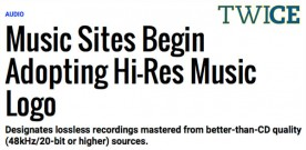 Hi-Res Download Sites Begin Adopting Hi-Res Music Logo