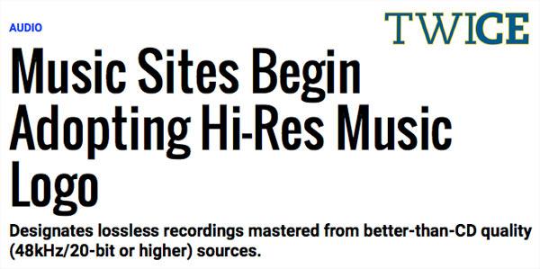 Hi-Res Download Sites Begin Adopting Hi-Res Music Logo