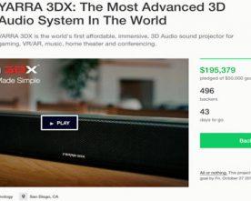 The YARRA 3DX Kickstarter Launch is a Success!