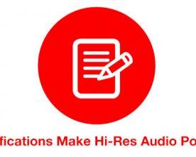 Hi-Res Audio HAS Specifications!