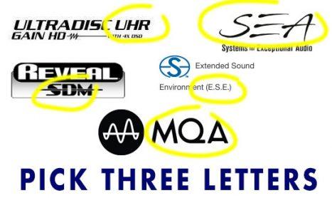 Audiophile Marketing: Pick Three Letters